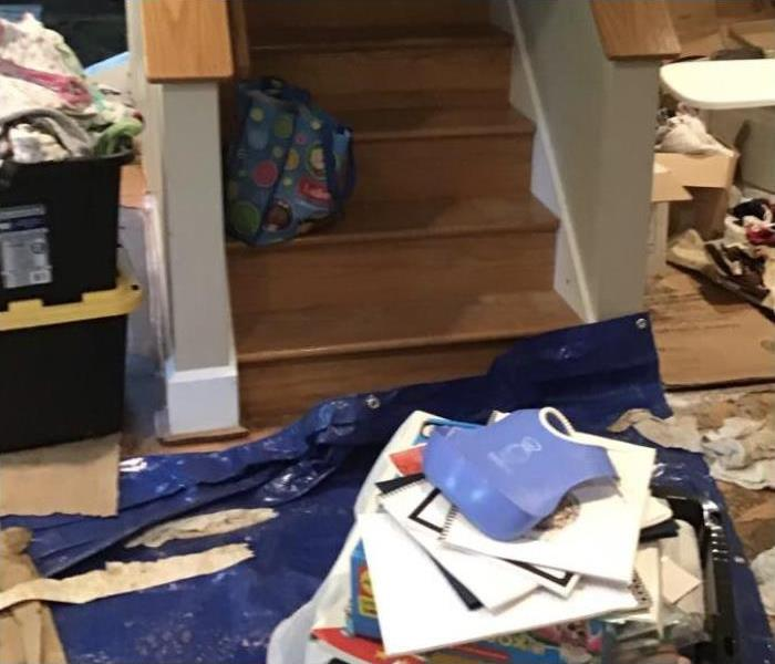 Storm Damaged Basement in St. Paul Home