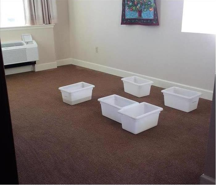 Senior Living Room with Water Damage